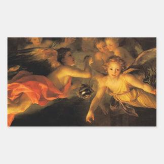 Christmas Nativity Angels Sticker Rectangular Sticker