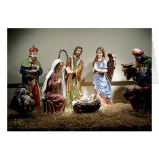 Christmas Nativity Manger Scene Christmas Card