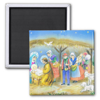 Christmas, Nativity, manger scenes Magnet
