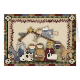 Christmas Nativity Scene Holiday card