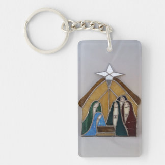 Christmas Nativity Scene Key Ring