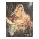 Christmas Nativity Scene Mary & Baby Jesus Post Card