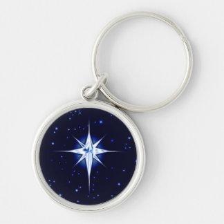 Christmas Nativity Star Key Ring