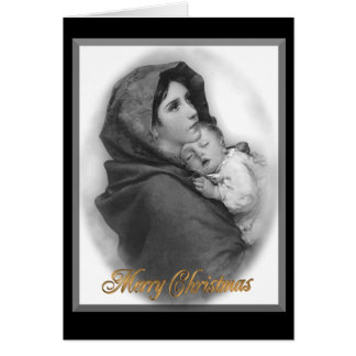 Christmas nativity The Modonna religious card