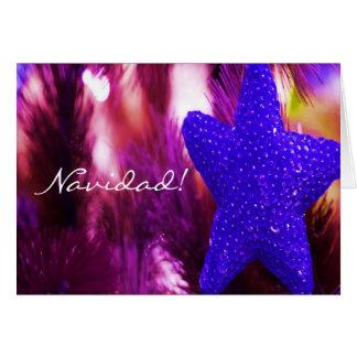 Christmas Navidad Blue Star III Greeting Cards