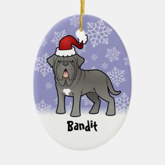 Christmas Neapolitan Mastiff Ceramic Ornament