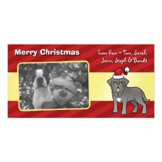 Christmas Neapolitan Mastiff Custom Photo Card