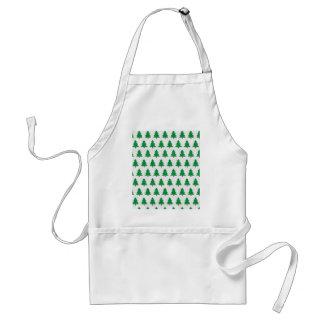 christmas new design green white standard apron