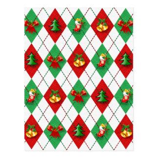 christmas new design red green postcard