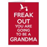 Christmas New Grandma Pregnancy Announcement Card