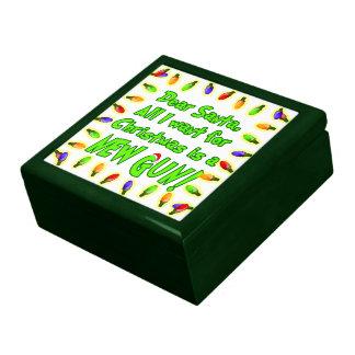 Christmas New Gun Wish Gift Trinket ammo Box Large Square Gift Box