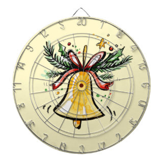 Christmas New Year Gift Yellow Jingle Bell Dartboard