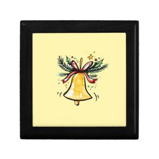 Christmas New Year Gift Yellow Jingle Bell Gift Box