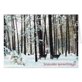 Christmas, New Year, Holiday - Deer Card