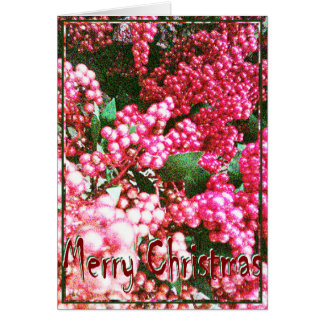 Christmas, New Year, Holiday - Holly Berries Card