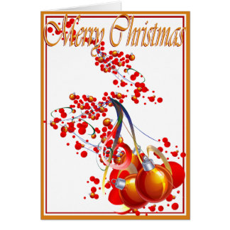 Christmas, New Year, Holiday - Ornaments Card