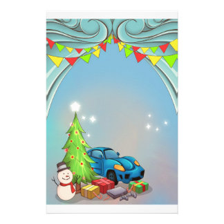 Christmas New Year stationery letter for Santa boy