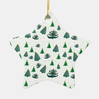 Christmas New Year Trees Star Ornament