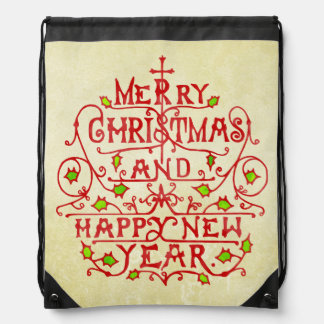 Christmas New Year Vintage Typography Backpack
