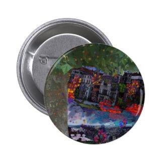 Christmas night 6 cm round badge