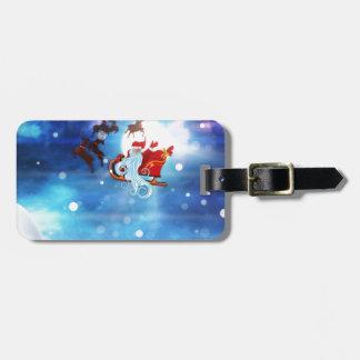 Christmas Night and Santa Luggage Tag