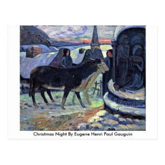 Christmas Night By Eugene Henri Paul Gauguin Postcards