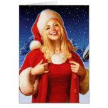 """Christmas Night"" Close Up Greeting Card"