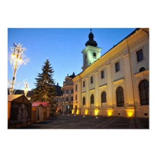 Christmas night in Sibiu, Romania Cards