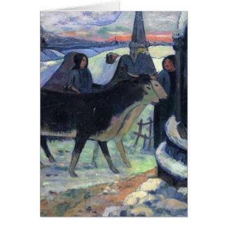 Christmas Night - Paul Gauguin Greeting Cards
