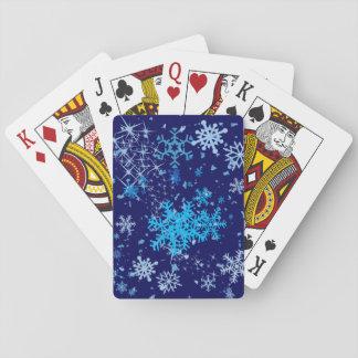 Christmas Night Snowfall Playing Cards