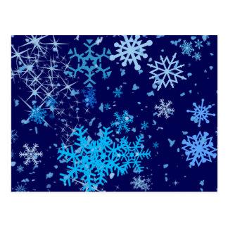 Christmas Night Snowfall Postcard