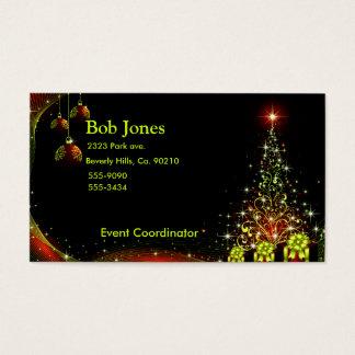 Christmas Night Wonderland Green Set Business Card