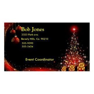 Christmas Night Wonderland Red Set Business Card