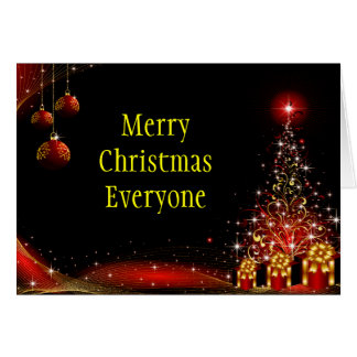 Christmas Night Wonderland Red Set Greeting Card