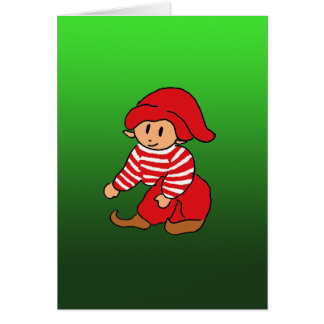 christmas Nisse Greeting Card