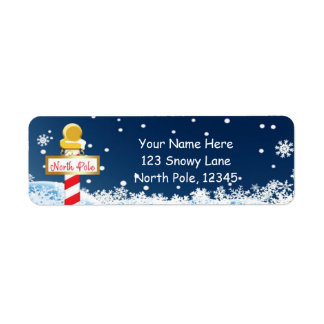 Christmas North Pole Sign Party Address Labels