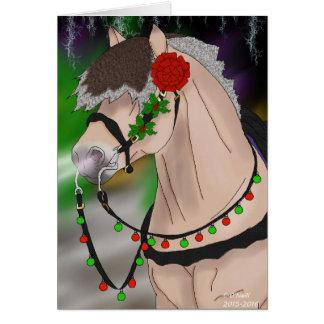 Christmas Norwegian Fjord Horse Card