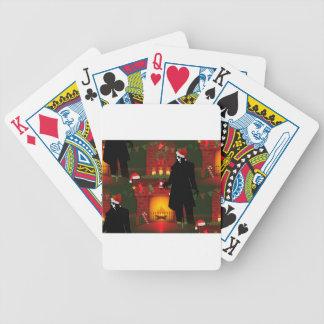 christmas nosferatu bicycle playing cards