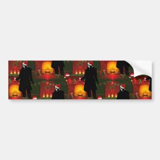 christmas nosferatu bumper sticker