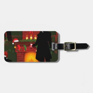 christmas nosferatu luggage tag