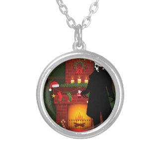 christmas nosferatu silver plated necklace