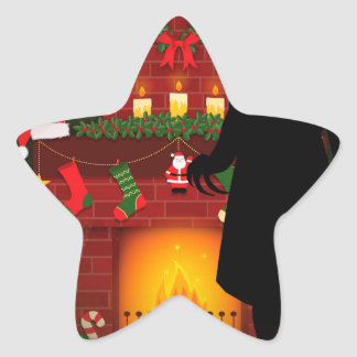 christmas nosferatu star sticker