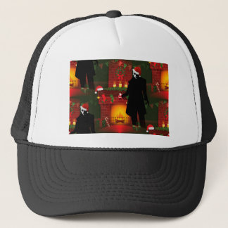 christmas nosferatu trucker hat