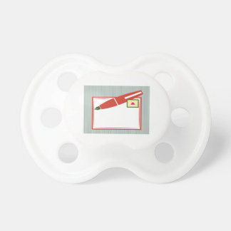 Christmas Note Pacifiers