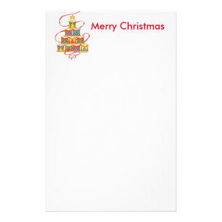 Christmas Note Pads Tree of Drums Stationery Paper