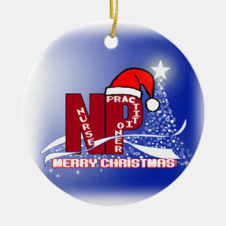 CHRISTMAS NP SANTA NURSE PRACTITIONER ORNAMENT
