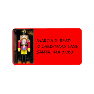 CHRISTMAS  NUTCRACKER, ADDRESS LABEL, ADDRESS LABEL