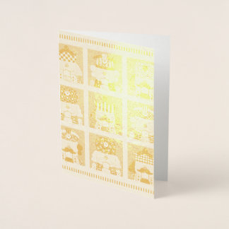 Christmas Nutcracker Gold Foil Card