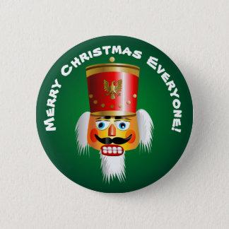 Christmas Nutcracker Toy-Soldier Cartoon 6 Cm Round Badge