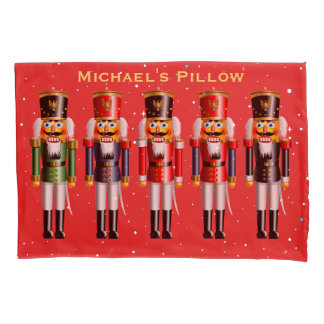 Christmas Nutcracker Toy Soldiers Pillowcase